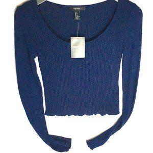 🌺3/$15🌺NWT Thin Navy Knit Low Cut Top.